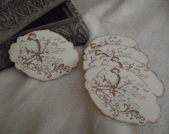 Vintage Inspired Tags...5 Piece Set of Very Beautiful Seasons and Nature Vintage Inspired Scrapbook Tags