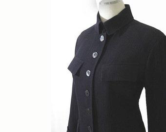 Black Vintage Myrene de Premonville Jacket - Paris Designer Jacket M