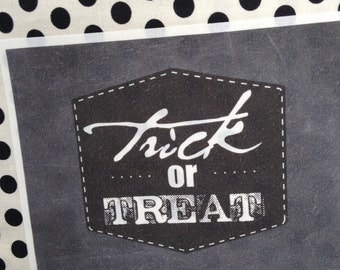 Halloween Treat Tote - Label Only