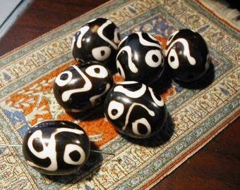 Dzi Resin Beads - 2 pcs - Nepal