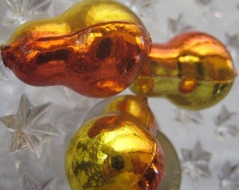 3 Glass Garland Beads Christmas Garland Pear Shaped Beads Czech Republic 061 SO