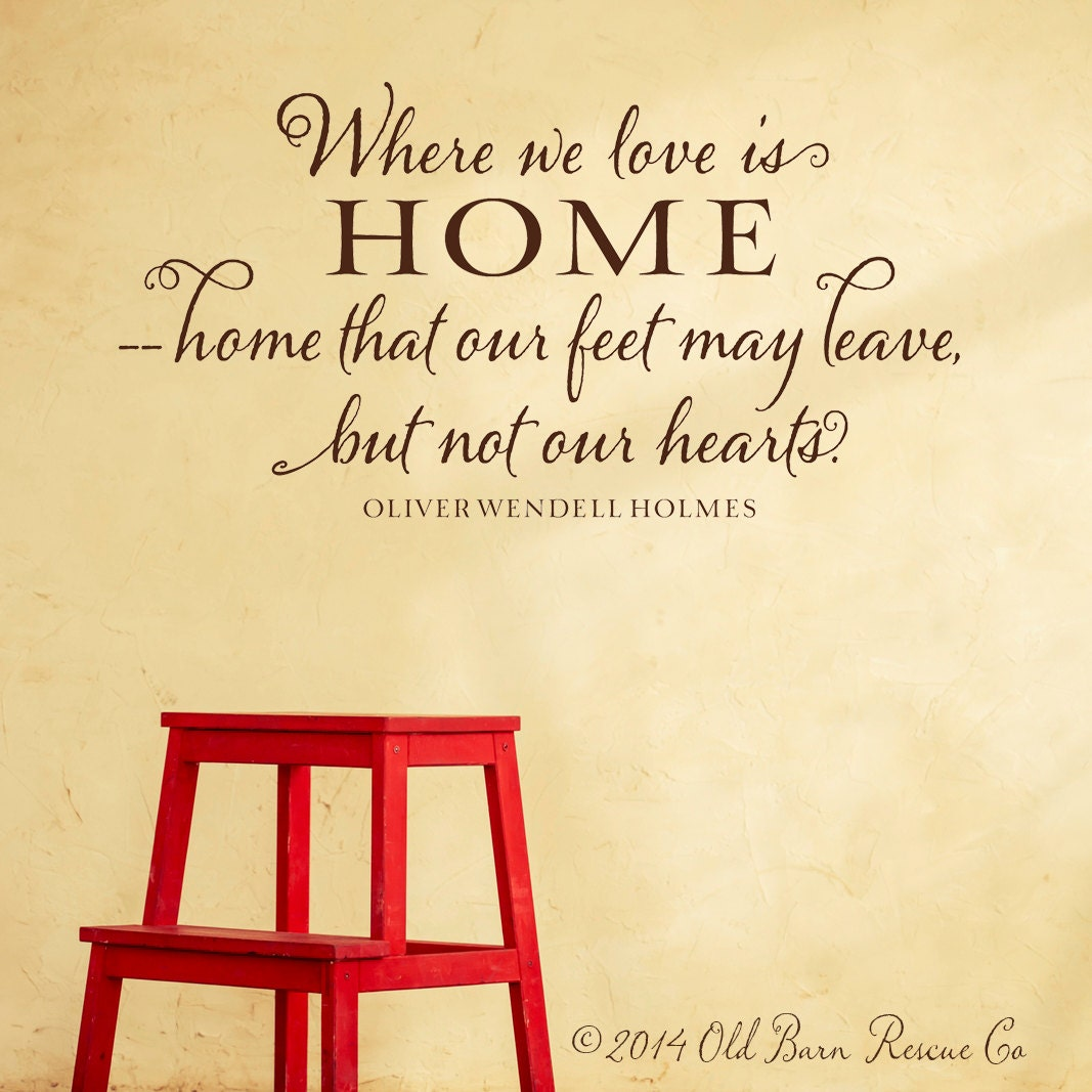 Where we love is home vinyl wall decal by for Enjoy your new home images