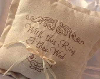Country Style Wedding Ring Pillow
