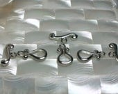 Clasps Set of 3 Toggle Clasp Platinum color Silver Alloy Metal Single Strand Medium Size Jewelry Supplies Jewellery Supplies Lead Free