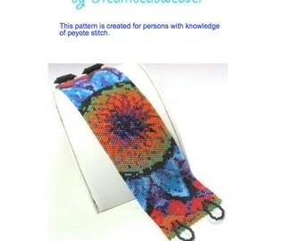 Flower of Light Bead Weaving Bracelet PDF Pattern
