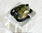 Glass Sea Turtle Bead, Ha...