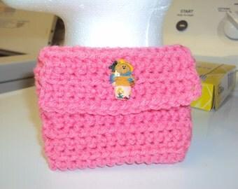 Crochet Pink Change purse