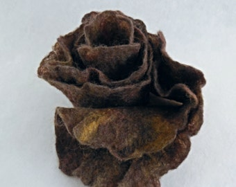 Felted Scarf with Ruffles