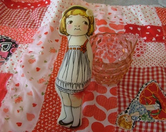 Vintage Inspired Cloth Paper DOLL Mona Lynn