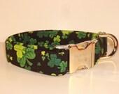 St Patrick's Day - Shamrock Dog Collar by Swanky Pet