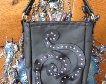 Black Leather Bucket Purse