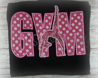 Gym Sillouette Embroidery Applique Design
