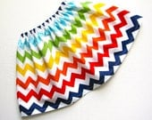 RTS Rainbow Chevron Twirl Skirt Available sizes: 24 months- 8 Handcrafted by Valeriya