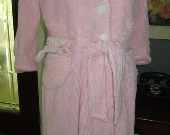 Item 20 Chenille Glamour Girl Bath Robe Women By