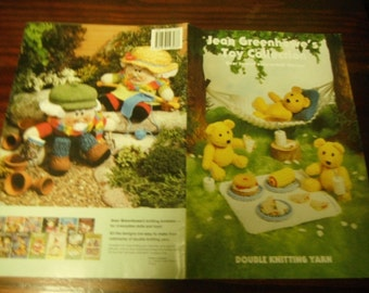 Doll Knitting Patterns Jean Greenhowe's Toy Collection Knit Pattern Leaflet