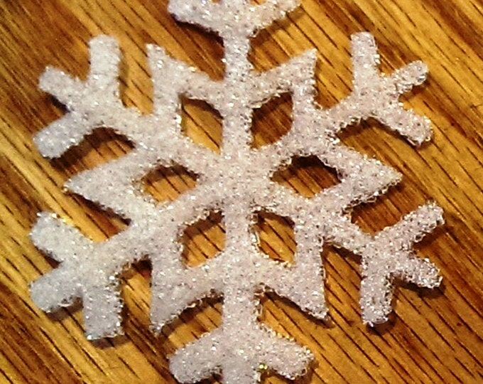 Featured listing image: Cast Glass Snowflake - You Choose Color -  Ready to Hang - Great Teacher Gift!