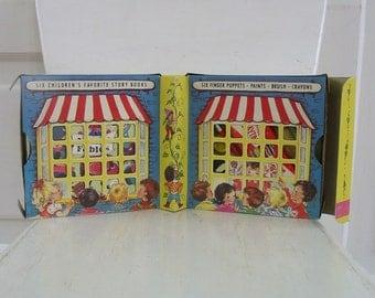 Vintage Child Story Books Classics Paint Ephemera Crayons Coloring Aesop Fables