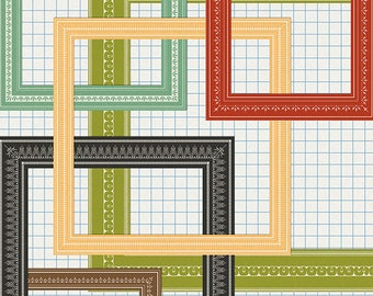 decorative frames - digital scrapbooking - graphics - commercial use allowed - automatic download