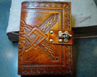 OLD WORLD ll Leather Hand Carved Journal Cover