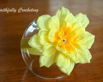 Newborn Headband.... Ready to Ship... Photography Prop... Yellow flower