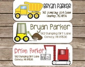 CONVOY VEHICLES-- choose one design-- return address labels, quantity of 30--- this listing is for MATTE stickers
