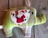Sammi Upcycled Christmas Elephant