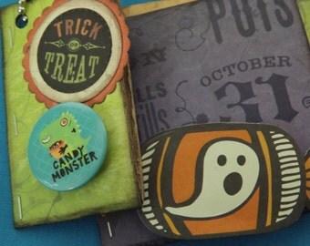 Upcycled Papertowel Roll Mini Halloween Photo Album