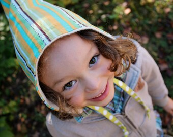 Gnome Hat - An organic fleece and corduroy winter hat -  size 6 to 24 months