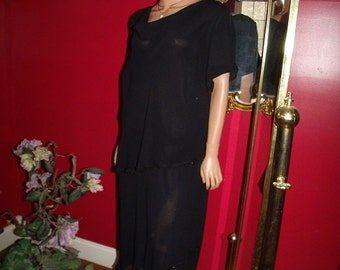 G.Gatsby  Black Flapper Dress   Size 22W