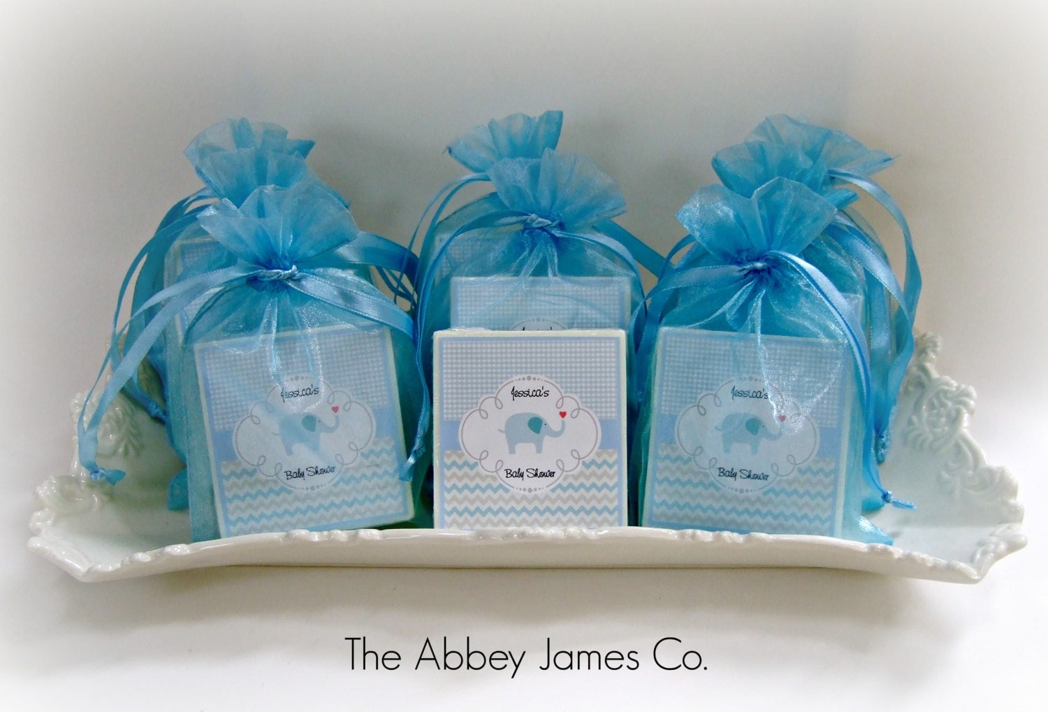baby boy shower favors baby elephant shower favors set of