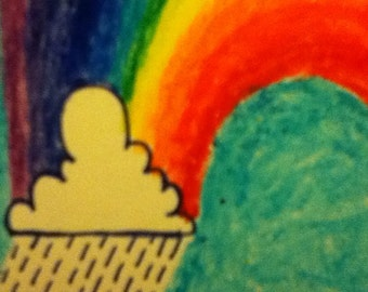Rainbow card and envelope