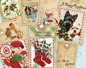 WONDERLAND TAgS collage Digital Images  -printable download file-