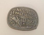 1993 National Finals Rodeo buckle belt