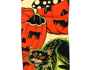 Alexander Henry Pumpkin Party Halloween Fabric Black Cats 1 FQ vintage inspired print