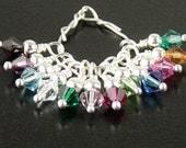 Swarovski Crystal Beads 12 Silver Wire Wrap CHOICE 4mm Bicone Dangle Drop Birthstones 5328