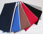 Extra Zippered Cash Envelopes - US Dollar Bill - Additional Zippered Cash Envelopes for Cash Envelope Wallet - You Choose Color