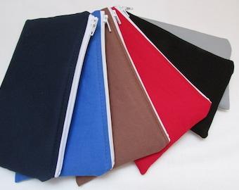 One Zippered Cash Envelope - US Dollar Bill or Change Purse - Additional Zippered Cash Envelopes for Cash Envelope Wallet - You Choose Color