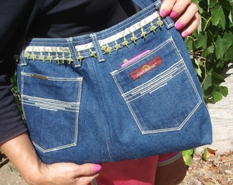 Reduced Recycled Denim Purse