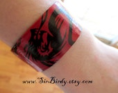 Dragon slap bracelet red black ready to ship