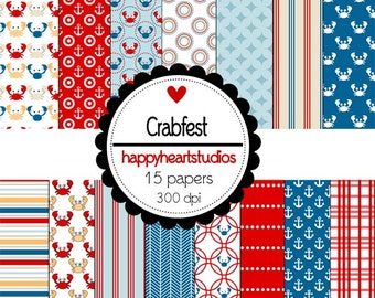Digital Scrapbook Crabfest-INSTANT DOWNLOAD