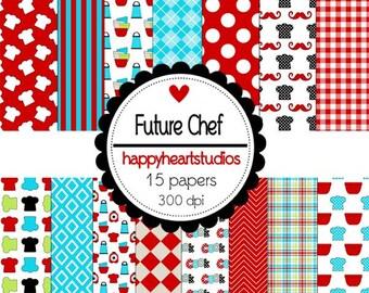 Digital Scrapbook FutureChef-INSTANT DOWNLOAD