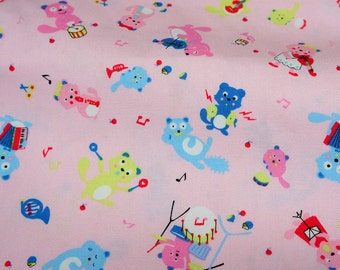 Otter  print Japanese Fabric A4 nc41
