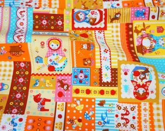 Matryoshka Russian dolls fabric Half meter