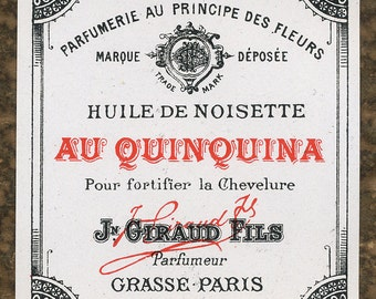 Antique Vintage French Apothecary Perfume Label 32