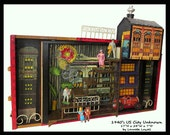 1940s US City Unknown Mixed Media Assemblage