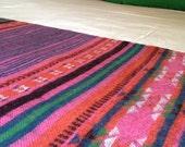 Multicolour sofa bed runner/throw wool