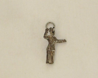 STERLING CHARM MAN  Dancer charming collectible 3/4 x 1/2 in Rockabilly