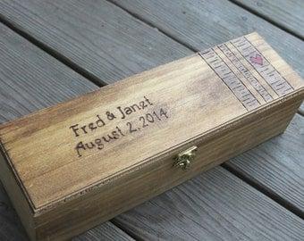 Wedding or Anniversary  Wine Box - Birch Trees