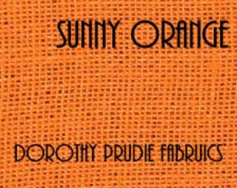 Clearance BURLAP SUNNY ORANGE colored Shalimar Burlap Fabric  1 Yard 50% off as marked