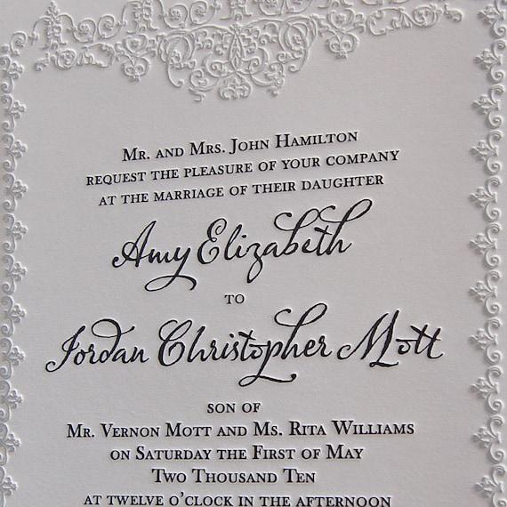 Letterpress Wedding Invitation sample, Wedding invitation, Classic wedding invitation, Wedding invitations, classic wedding invitations
